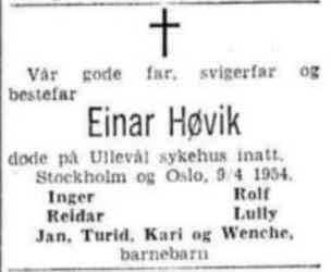 Einar Høvik - Aftenposten 10.04.1954.png