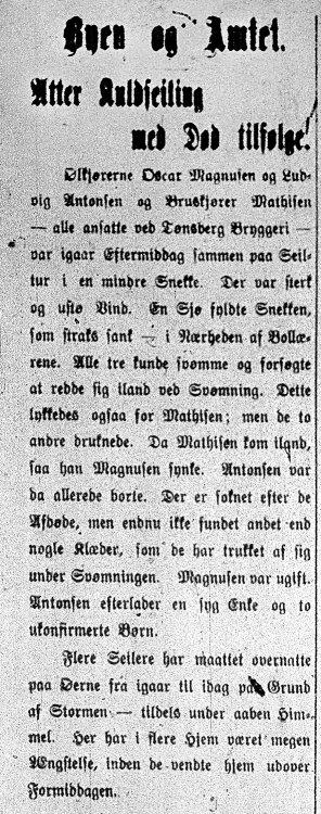 Tønsbergs Blad 18.07.1904 - Seilingsulykke Ludvig Antonsen WEB.jpg