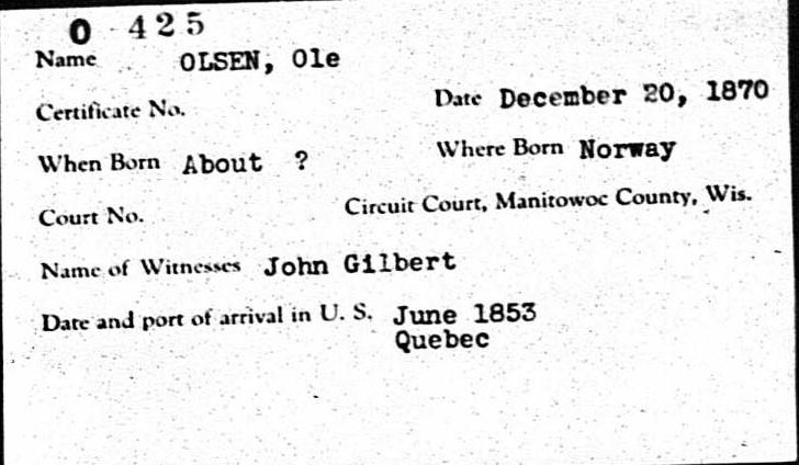 Ole Olsen naturalization 1870.jpg