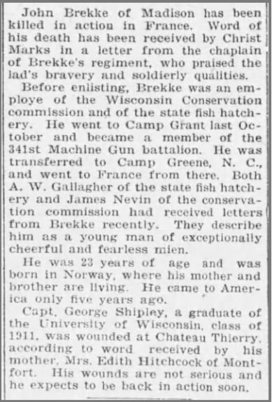 Wisconsin State Journal (Madison, Wisconsin) 19 Aug 1918, Monday, Page 1_II.jpg