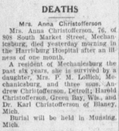 The Sentinel (Carlisle, Pennsylvania) 11 Sep 1943, Saturday, Page 2.jpg