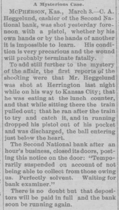 Lawrence Daily Gazette (Lawrence, Kansas) 03 Mar 1891, Tuesday, Page 1.jpg