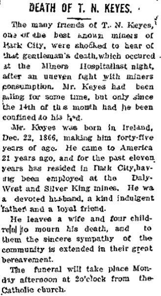 The Park Record (Park City, Utah) 25 Nov 1911, Saturday, Page 1.jpg
