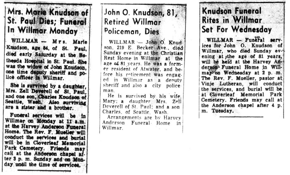 John & Marie Knudson_Willmar Tribune – June 7 and 8, 1971_October 27, 1973.JPG